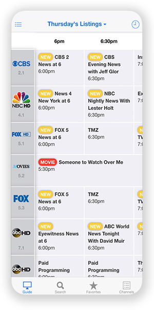 TV Listings Guide App